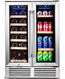 BODEGA Wine and Beverage Refrigerator,24 Inch Dual Zone Wine...