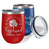 Personalized Wine Glass, Earth Stainless Steel Tumbler (12...