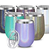 Stainless Steel Wine Tumbler Insulated - THILY Stemless...