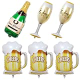 6 Pieces of Oktoberfest Party Balloons-Beer Wine Glass...