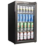 Euhomy Beverage Refrigerator and Cooler, 120 Can Mini fridge...
