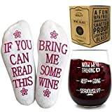 VINAKAS Funny Wine Glass+Wine Socks-Perfect gift set women...