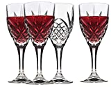 Italian Crystal Wine Glasses, Set of 4-9 Ounce Wine Goblets...