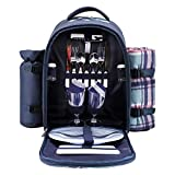 apollo walker Picnic Backpack Bag for 2 Person with Cooler...