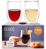 Wine Glasses - Set of 2-13 oz Tumbler Cup - Double Walled...