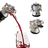 Stainless Steel Wine Animal Pourer Real Dyl (Dog)