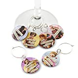 Savvy Design Store Funny Vintage Women Wine Glass Charms -...