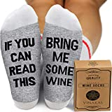 VINAKAS Wine Gifts for Women -'If you can read this bring me...