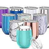 Stainless Steel Stemless Wine Glass - THILY T1 Triple Vacuum...