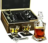 Whiskey Stones & Decanter Gift Set for Men & Women, By The...