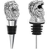 Coitak Lion Head Wine Pourer Spout, Wine Bottle Stopper for...