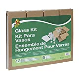 Duck Brand Glass Kit, 5 Corrugate Dividers with 12 Foam...