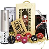 VINAKAS Wine Gift Set - Includes Stainless Steel Electric...