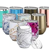 Stainless Steel Stemless Wine Tumbler - THILY 12 oz...