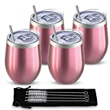 Comfook 4 Pack 12oz Double Wall Vacuum Insulated Stainless...