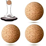 3 Pieces Wine Bottle Wooden Cork Ball Stoppers for Wine...