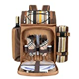 Hap Tim Picnic Basket Backpack for 2 Person with Insulated...