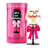 Not a Day Over Fabulous Happy Birthday Wine Glass for Women...