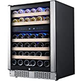 STAIGIS Wine Refrigerator - 24 Inch Wine Cooler with...