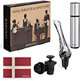 BARVIVO Wine Aerator and Wine Saver Pump with 2 Upgraded...