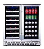 Phiestina Wine and Beverage Refrigerator | 30 Inch Built-In...
