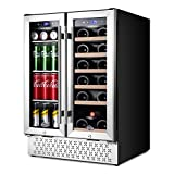 Wine and Beverage Refrigerator 24 Inch, Dual Zone Wine...