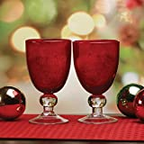 Circleware Cambria Goblets, Set of 2, Home Entertainment...