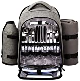 Hap Tim - Waterproof Picnic Backpack for 4 Person with...