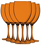 Orange 10 oz Nuance Full Accent Wine Glasses - Set of 6 by...