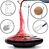 BTaT- Decanter with Drying Stand, Stopper, Brush and Beads,...