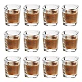 Tebery 12 Pack Espresso Shot Glasses Measuring Cup Heavy...