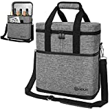 Premium Insulated 6 Bottle Wine Carrier Tote Bag   Wine...