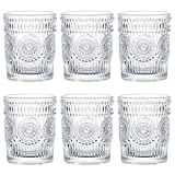 Kingrol 6 Pack 9.5 oz Romantic Water Glasses, Premium...