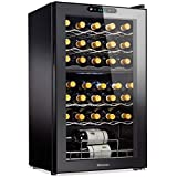 Wine Enthusiast 32-Bottle Dual Zone MAX Compressor Wine...