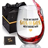 You're My Favorite Wine Glass for Women, Funny BFF Birthday...
