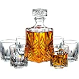 Paksh Novelty 7-Piece Italian Crafted Glass Decanter &...