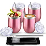 Comfook 4 Pack Stainless Steel Stemless Insulated Wine...