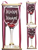 Mischief Managed Stemmed Wine Glass with Charm and...