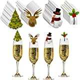 60 Pieces Christmas Wine Glass Decorations Cup Cards...