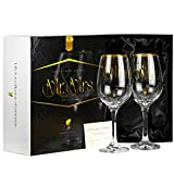 Luxury Mr Mrs Wine Glasses Set for Couple | Unique Wedding...