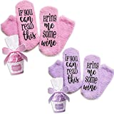 2 Pairs Wine Socks with Cupcake Gift Packaging with If You...