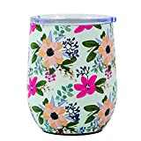 Mary Square Drink Amelia Stainless Tumbler 12 oz Floral