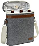 3 Bottle Insulated Wine Tote Cooler Bag, Portable Wine...