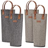 4 Pack - Single Bottle Insulated Wine Tote, 1 Bottle Wine...