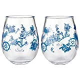 Enesco Designs by Lolita Set Sail Acrylic Stemless Wine...
