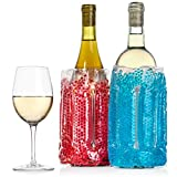 2 pack Wine Chiller Sleeves - Perfect for Parties, Cookouts,...