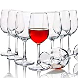 Red Wine Glasses Set of 8, 12oz Durable Red & White Wine...