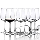 15-Oz Red White Wine Glasses Set of 8, Long Stem Clear Party...
