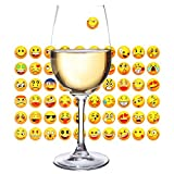 Wine Glass Markers 60pcs Funny Icons Stickers Decorative...