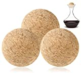 Wine Cork Ball,3 Pieces Wooden Cork Ball Stopper for Wine...